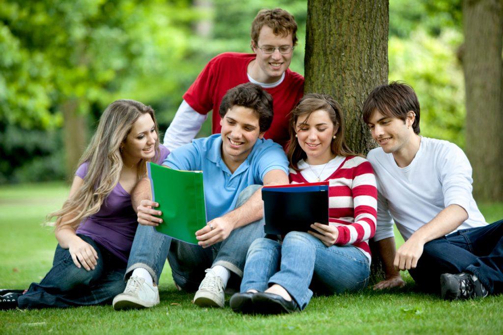 Hình ảnh du học sinh New Zealand học nhóm