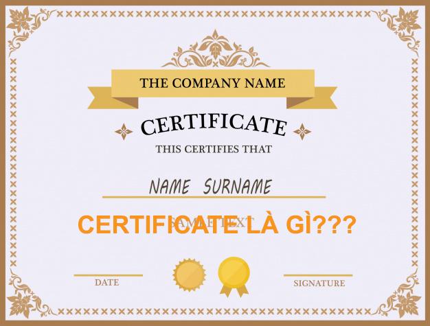Certificate Là Gì? Sự Khác Nhau Giữa Certificate Và Diploma Là Gì ...
